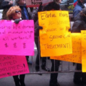 Protesters Greet Cuomo At Manhattan Re-Election Campaign Stop